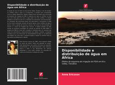 Portada del libro de Disponibilidade e distribuição de água em África