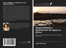 Portada del libro de Disponibilidad y distribución de agua en África