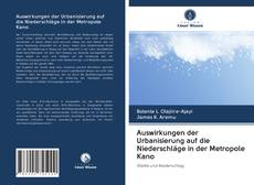 Couverture de Auswirkungen der Urbanisierung auf die Niederschläge in der Metropole Kano