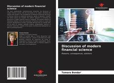 Couverture de Discussion of modern financial science