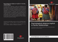 Couverture de Psychological violence implicit in family relationships