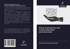Borítókép a  Social engineering voor maatschappelijke betrokkenheid - hoz