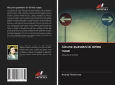Capa do livro de Alcune questioni di diritto russo