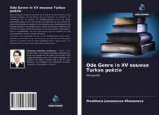 Capa do livro de Ode Genre in XV eeuwse Turkse poëzie