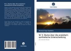 Portada del libro de W. V. Quine über die analytisch-synthetische Unterscheidung