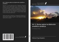 Portada del libro de W. V. Quine sobre la distinción analítica-sintética