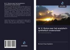 Portada del libro de W. V. Quine over het analytisch-synthetisch onderscheid