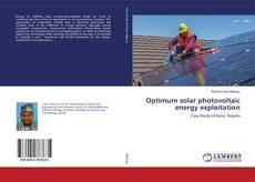 Capa do livro de Optimum solar photovoltaic energy exploitation