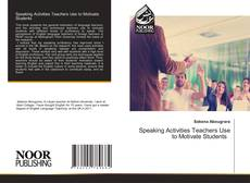 Capa do livro de Speaking Activities Teachers Use to Motivate Students