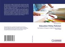 Capa do livro de Education Policy Pakistan