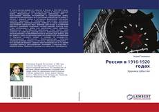 Bookcover of Россия в 1916-1920 годах