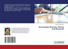 Knowlegde Sharing: Theory and Research kitap kapağı