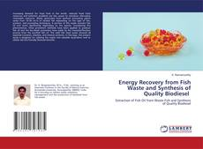 Capa do livro de Energy Recovery from Fish Waste and Synthesis of Quality Biodiesel
