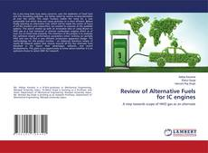 Buchcover von Review of Alternative Fuels for IC engines