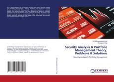 Bookcover of Security Analysis & Portfolio Management Theory, Problems & Solutions