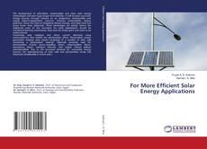 Capa do livro de For More Efficient Solar Energy Applications
