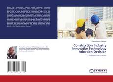 Buchcover von Construction Industry Innovative Technology Adoption Decision