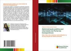 Capa do livro de Administração pública por intermédio do Portal da transparência