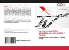 Capa do livro de La relevancia de las competencias lingüística y cultural