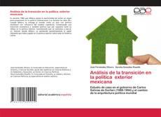Capa do livro de Análisis de la transición en la política exterior mexicana