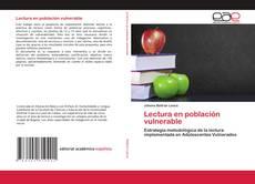 Capa do livro de Lectura en población vulnerable