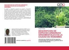 Buchcover von DESCRIPCION DE ESPECIES ARBOREAS ORNAMENTALES EN LA CIUDAD DE RIOBAMBA