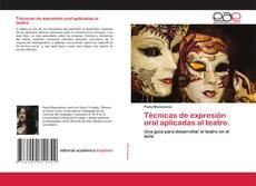 Capa do livro de Técnicas de expresión oral aplicadas al teatro.