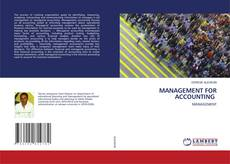 Portada del libro de MANAGEMENT FOR ACCOUNTING