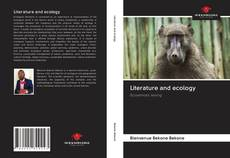 Bookcover of Literature and ecology