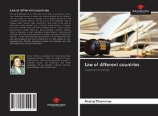 Bookcover of Law of different countries