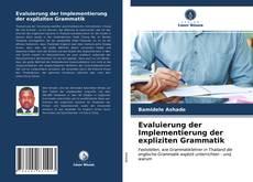 Copertina di Evaluierung der Implementierung der expliziten Grammatik