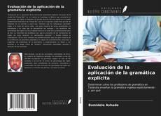Capa do livro de Evaluación de la aplicación de la gramática explícita