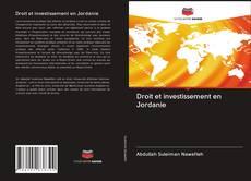 Buchcover von Droit et investissement en Jordanie