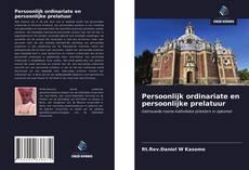 Capa do livro de Persoonlijk ordinariate en persoonlijke prelatuur