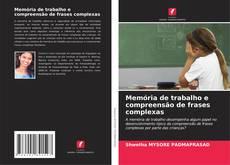 Buchcover von Memória de trabalho e compreensão de frases complexas