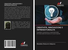 CREATIVITÀ, INNOVAZIONE E IMPRENDITORIALITÀ kitap kapağı