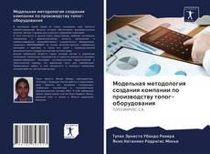 Модельная методология создания компании по производству топог-оборудования的封面