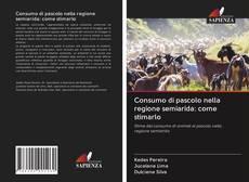 Capa do livro de Consumo di pascolo nella regione semiarida: come stimarlo