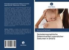Portada del libro de Soziodemographische Determinanten jugendlicher Geburten in Ghana
