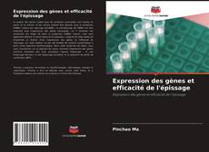 Capa do livro de Expression des gènes et efficacité de l'épissage
