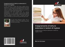 Copertina di Insegnamento di letture estensive in lezioni di inglese