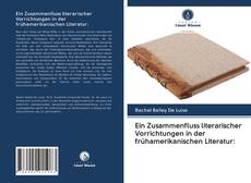 Ein Zusammenfluss literarischer Vorrichtungen in der frühamerikanischen Literatur: kitap kapağı