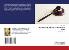 An Introduction To Criminal Law kitap kapağı