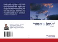 Couverture de Management of change and Innovation in education