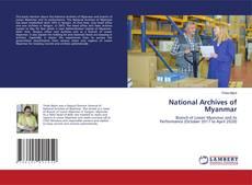 Обложка National Archives of Myanmar