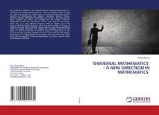 Bookcover of 'UNIVERSAL MATHEMATICS' : A NEW DIRECTION IN MATHEMATICS