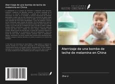 Portada del libro de Aterrizaje de una bomba de leche de melamina en China