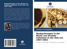Capa do livro de Beobachtungen in der Musik von Ornette Colemans in der Zeit von 1957-1963