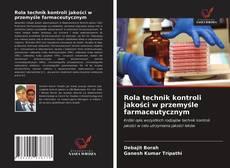 Обложка Rola technik kontroli jakości w przemyśle farmaceutycznym