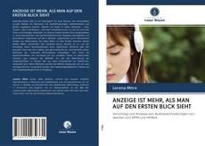 Bookcover of ANZEIGE IST MEHR, ALS MAN AUF DEN ERSTEN BLICK SIEHT